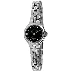 Peugeot Women's Silvertone Watch with Black Dial|https://ak1.ostkcdn.com/images/products/5535759/Peugeot-Womens-Silvertone-Watch-with-Black-Dial-P13312585.jpg?impolicy=medium
