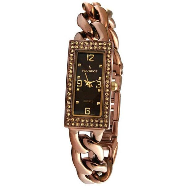 Peugeot Women's Goldtone Black-Dial Watch