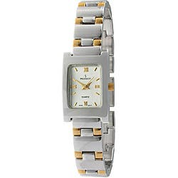 Peugeot Women's Two-tone Bracelet Watch|https://ak1.ostkcdn.com/images/products/5535782/Peugeot-Womens-Two-tone-Bracelet-Watch-P13312606.jpg?impolicy=medium