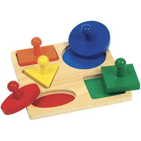 Guidecraft Geometric Puzzle Board