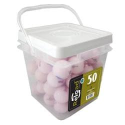 Pinnacle Crystal Pink 50-count Recycled Golf Balls - Thumbnail 0