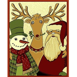 Rudolph and Friends Holiday Area Rug - 3' x 5'