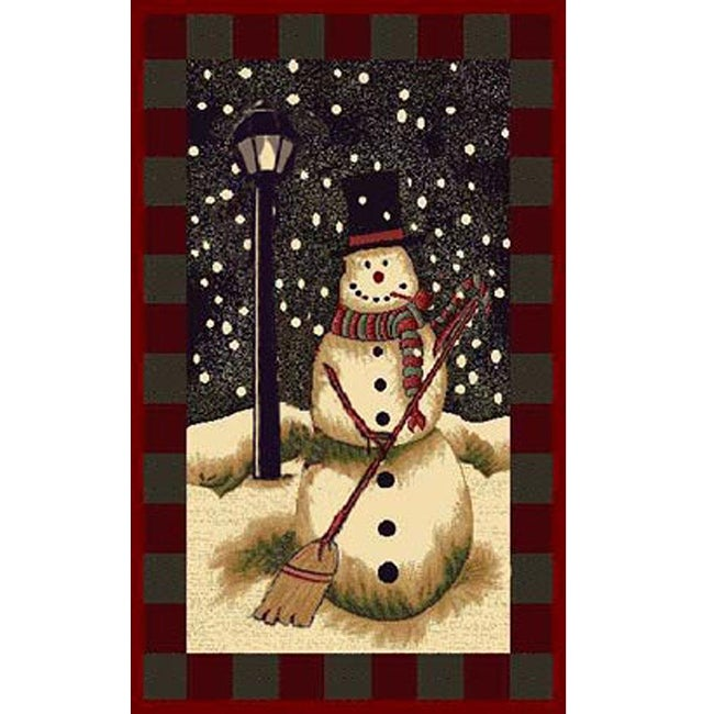 Snowman Holiday Area Rug (3' x 5')