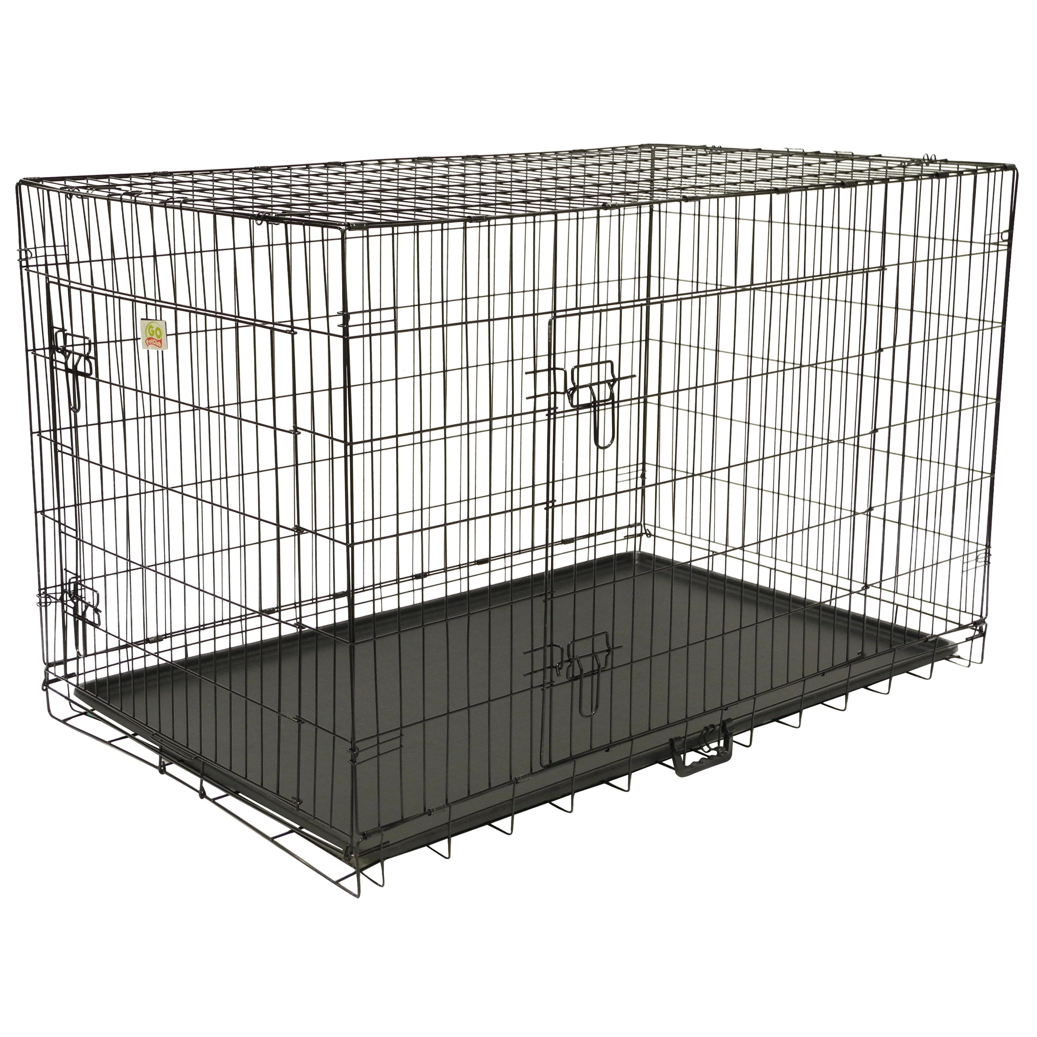GoPetClub GoPetClub 48-inch 2-Door Folding Metal Dog Crat...