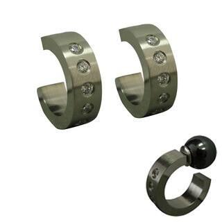 Magnetic Cubic Zirconia Hoop Earrings|https://ak1.ostkcdn.com/images/products/5538047/P13314440.jpg?impolicy=medium