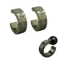 Magnetic Cubic Zirconia Hoop Earrings