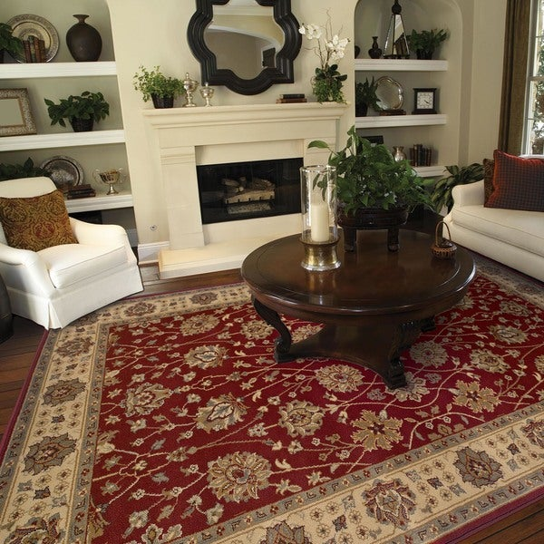 Red Oriental Rug - 5' x 7'6