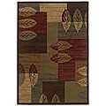 "Brown Traditional Geometric Rug (5' x 7' 6"")"