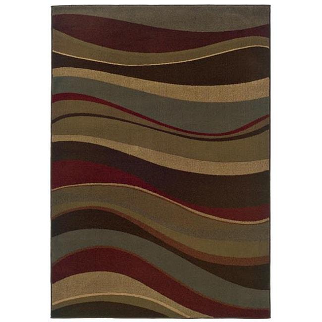 Beige Stripe Rug (5' x 7'6)