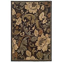 Brown Floral Rug (3'2 x 5'5)