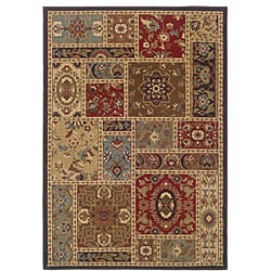 Beige Floral Rug (7'10 x 10') - Thumbnail 0