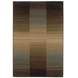 Indoor Brown Stripe Rug - 7'10 x 10' - Thumbnail 0