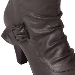 Journee Collection Women's 'Bamboo Venus-90D' Buckle Boots