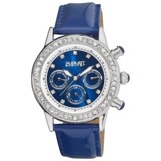 August Steiner Women's Multifunction Dazzling Strap Watch