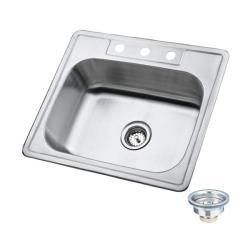 Kingstonbrass Stainless Steel Topmount 25-inch Kitchen Sinks (Pack of 12)