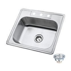 Kingstonbrass Stainless Steel Topmount 25-inch Kitchen Sinks (Pack of 12)