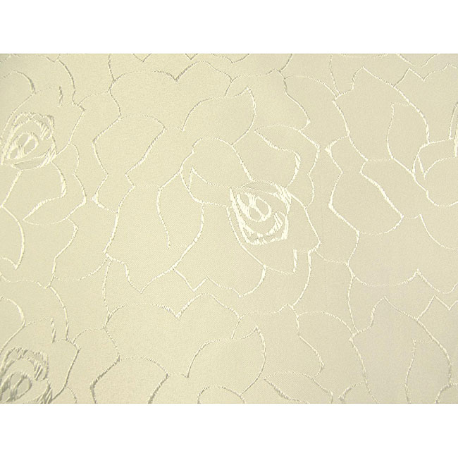 Floral Jacquard 61x95-inch Rectangular Pearl Tablecloth