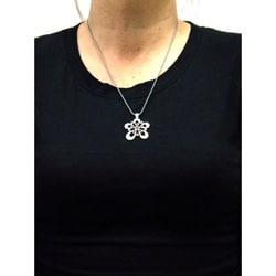Bico Australia Pewter Pink Crystal Honey Drops Necklace - Thumbnail 2
