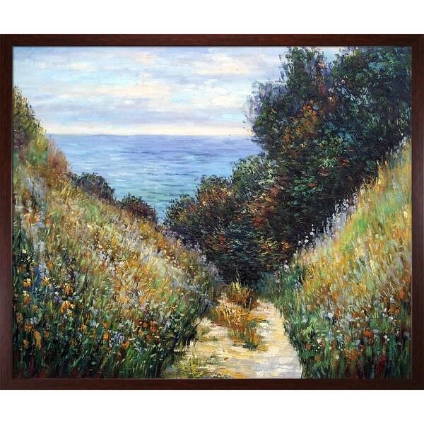 Monet 'Chemin De La Cavee Pourville' Canvas Art