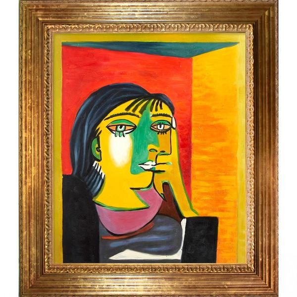Shop Picasso Painting Dora Maar W Vienna Gold Leaf Finish