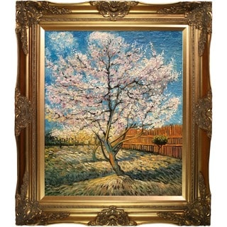 Van Gogh Paintings Pink Peach Tree in Blossom w/ Victorian Gold Frame Hand Painted Canvas Art
