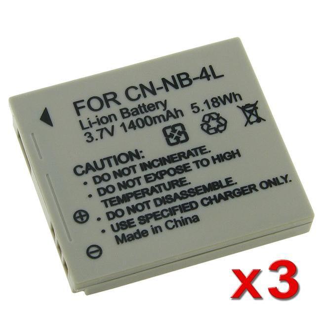 INSTEN Li-ion Battery for Canon NB-4L/ PowerShot SD630 (Pack of 3)