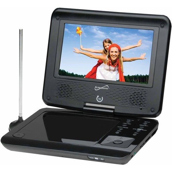 "Supersonic SC-257 Portable DVD Player - 7"" Display - 480 x 234"
