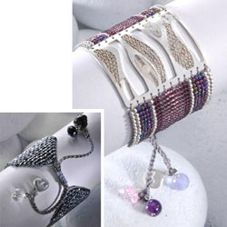 Sterling Silver Waves Beaded Bracelet (Colombia)