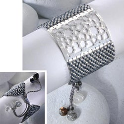Sterling Silver Star Flower Beaded Bracelet (Colombia) - Thumbnail 2