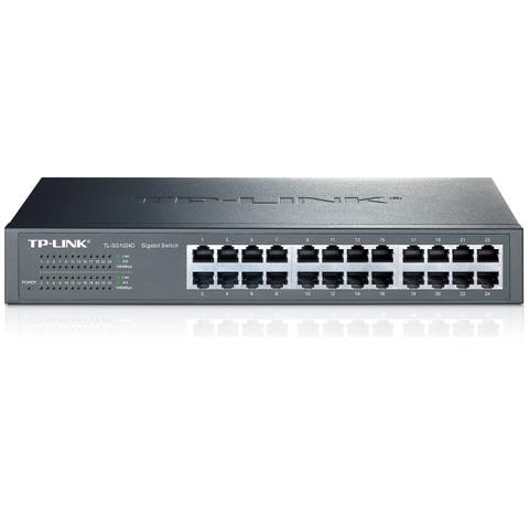 TP-LINK TL-SG1024D 10/100/1000Mbps 24-Port Gigabit 13-inch Rackmountable Switch, 48Gbps Capacity