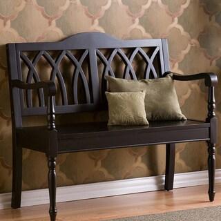 Harper Blvd Loma Antique Black Finish Wood Bench