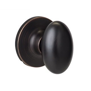 Sure-Loc Vintage Bronze Egg-shaped Dummy Door Knob
