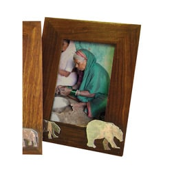 Wooden Polar Bear Photo Frame (India)
