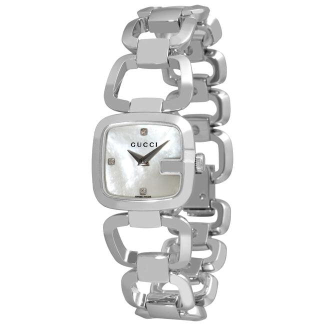 521e2cc5065 Shop Gucci Women s YA125502  G-Gucci  Mother of Pearl Face Watch - Free  Shipping Today - Overstock - 5540943