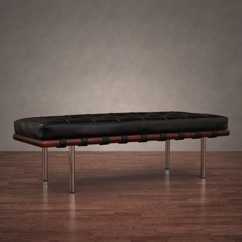 Jasper Laine Andalucia Black Leather Bench