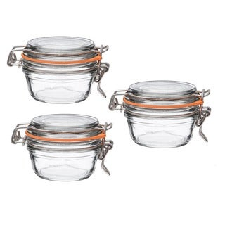Le Parfait French Super Terrine 125 Grams Wide Mouth Jar with 70 mm Gasket (Pack of 3)