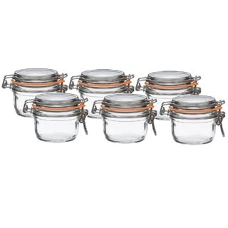 Le Parfait French Super Terrine 125 Grams Wide Mouth Jar with 70 mm Gasket (Pack of 6)