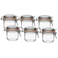 Le Parfait French Super Terrine Wide Mouth 200g Jar with 70 mm Gasket (Pack of 6)