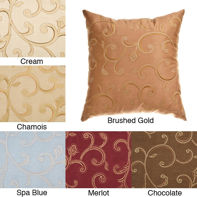Isis Scroll 18-inch Decorative Pillows (Set of 2)