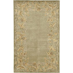 Hand-knotted Tan Neoteric Semi-Worsted New Zealand Wool Rug (2' x 3')