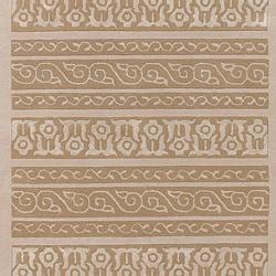 Bob Mackie Home Hand-tufted Ivory Geometric Wool/Viscose Rug (2' x 3')
