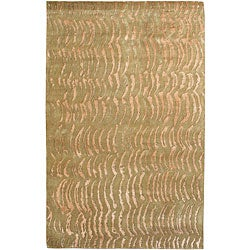 Julie Cohn Hand-knotted Resonate Beige Abstract Design Wool Rug (9' x 13')