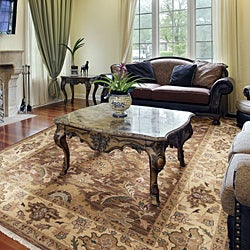Hand-knotted Epoch Brown Wool Rug (6' x 9') - Thumbnail 1
