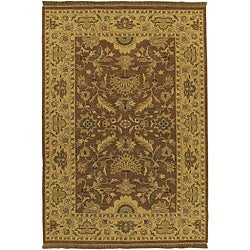 Hand-knotted Epoch Brown Wool Area Rug (6' x 9') - Thumbnail 0