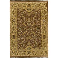 Hand-knotted Epoch Brown Wool Area Rug (6' x 9') - 6' x 9'