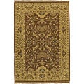 Hand-knotted Epoch Brown Wool Area Rug (6' x 9')