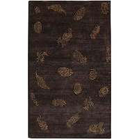 Hand-knotted Seaboard Brown Wool Area Rug (2' x 3') - 2' x 3'