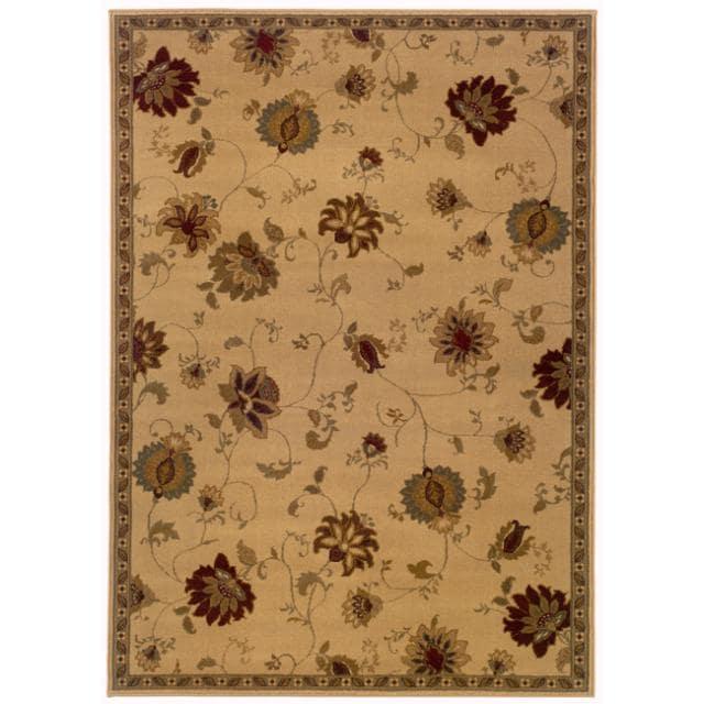 Indoor Beige Floral Area Rug (8'2 x 10')