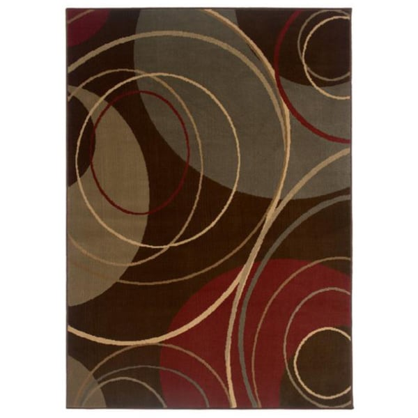 Indoor Brown Abstract Area Rug 8 2 X 10 13318853