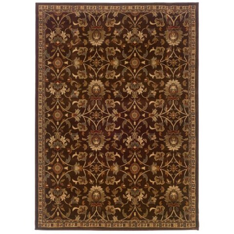 """Copper Grove Rouyn Brown Floral Area Rug - 3'2"""" x 5'7"""""""